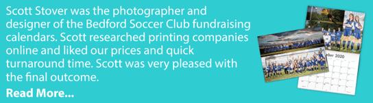 Soccer Photography Calendar Example