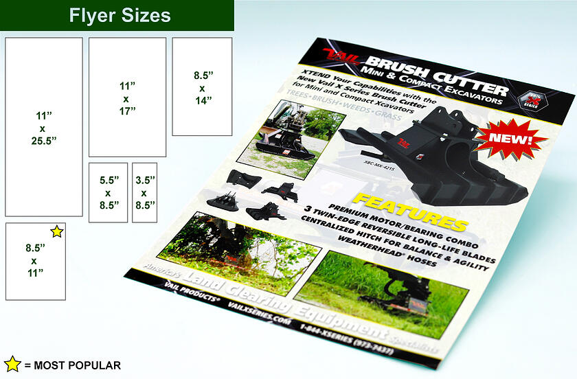 Flyer Printing sizes