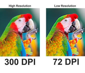 High Resolution vs. Low Resolution