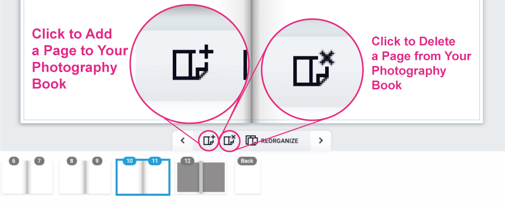 How to Add or Delete Pages from the Photography Book Design Tool on PrintingCenterUSA.com