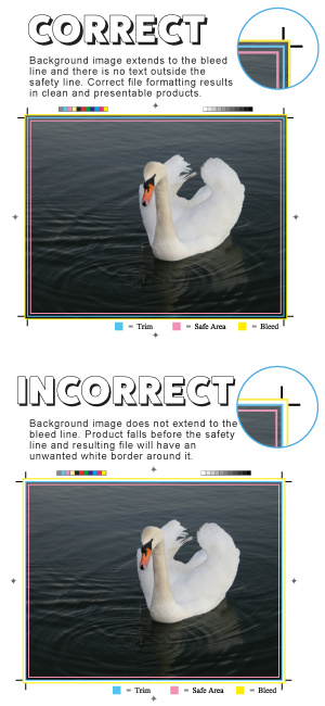 Correct image resolution for online printing