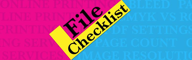 Online Printing Services PDF File Checklist header image
