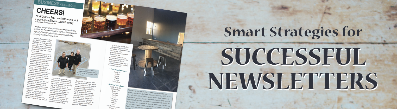 """Header Image """"Smart Strategies for Successful Newsletters"""