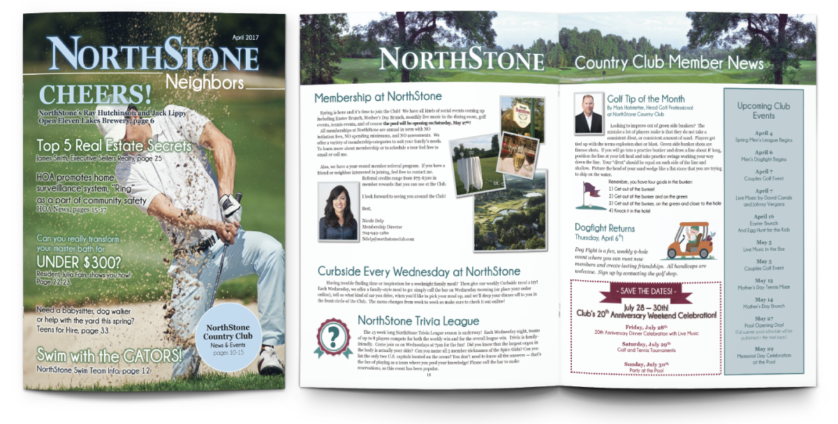 Newsletter for a Country Club