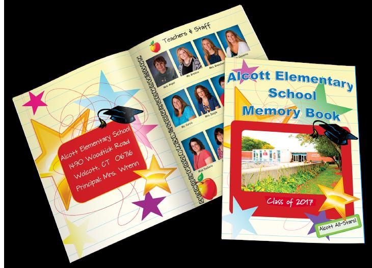 elementary school custom printed yearbook