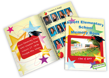 elementary school custom printed yearbook