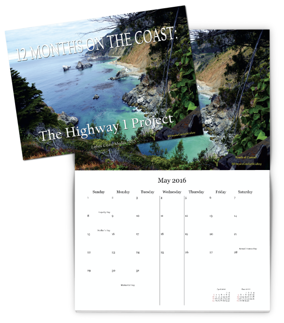 The Highway 1 Project custom calendar