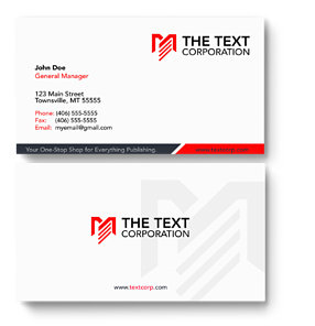 Simple front & back of a business card