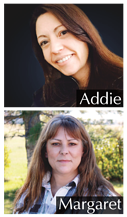 Addie and Margaret, two recommended professional graphic designers