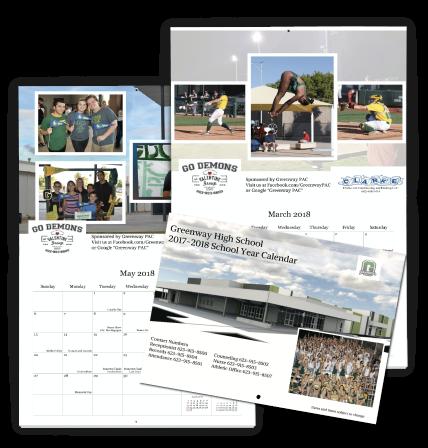 School Calendar designed using our Online Photo Calendar Designer