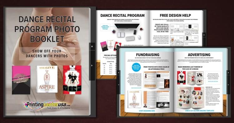dance recital program printing photo book