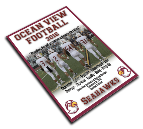Ocean View's football program printing 2016