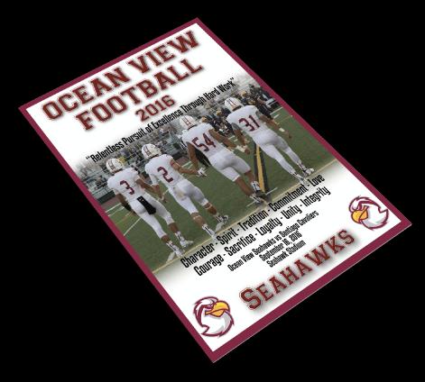 Ocean View's football program printing 2016
