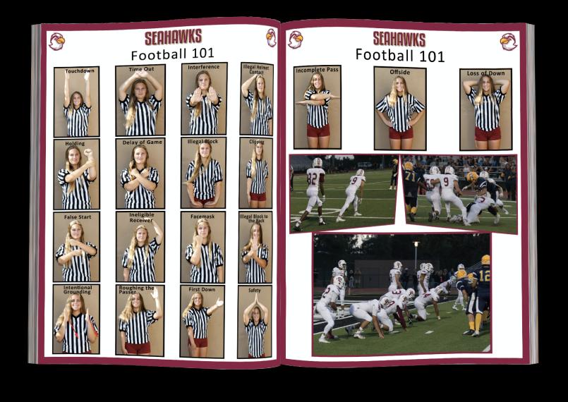 """Football 101"" football program printing pages"