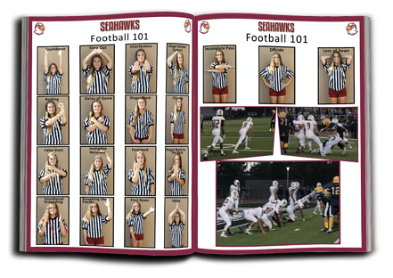 """Football 101"" football program printing pages"