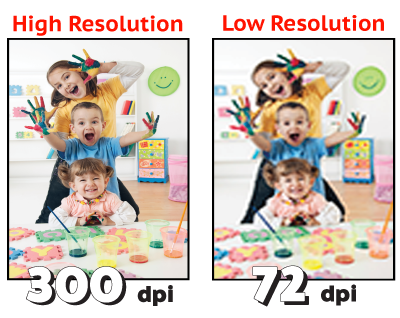 High resolution vs. low resolution image