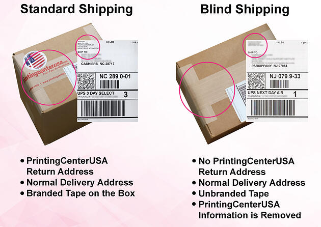 Blind Shipping vs Standard Shipping