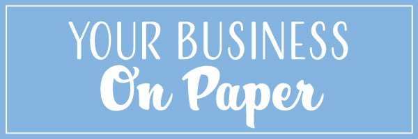Brochures mean putting your business on paper!