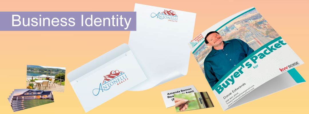Real Estate Business Identity: Business Cards, Letterhead, Envelopes, and Presentation Folders