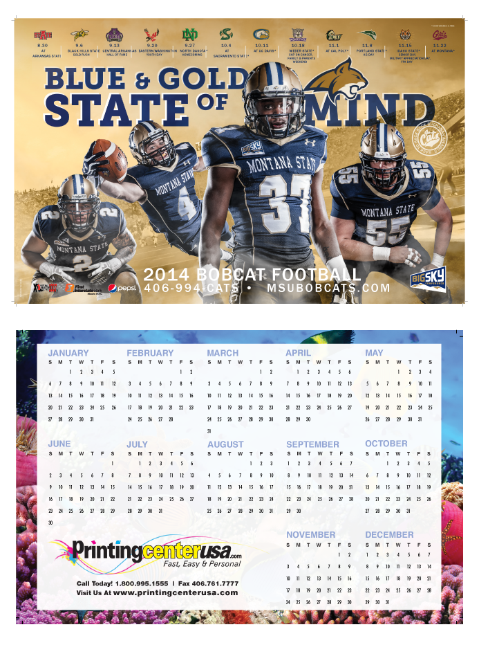 Customize your calendar even more with Poster Calendars!