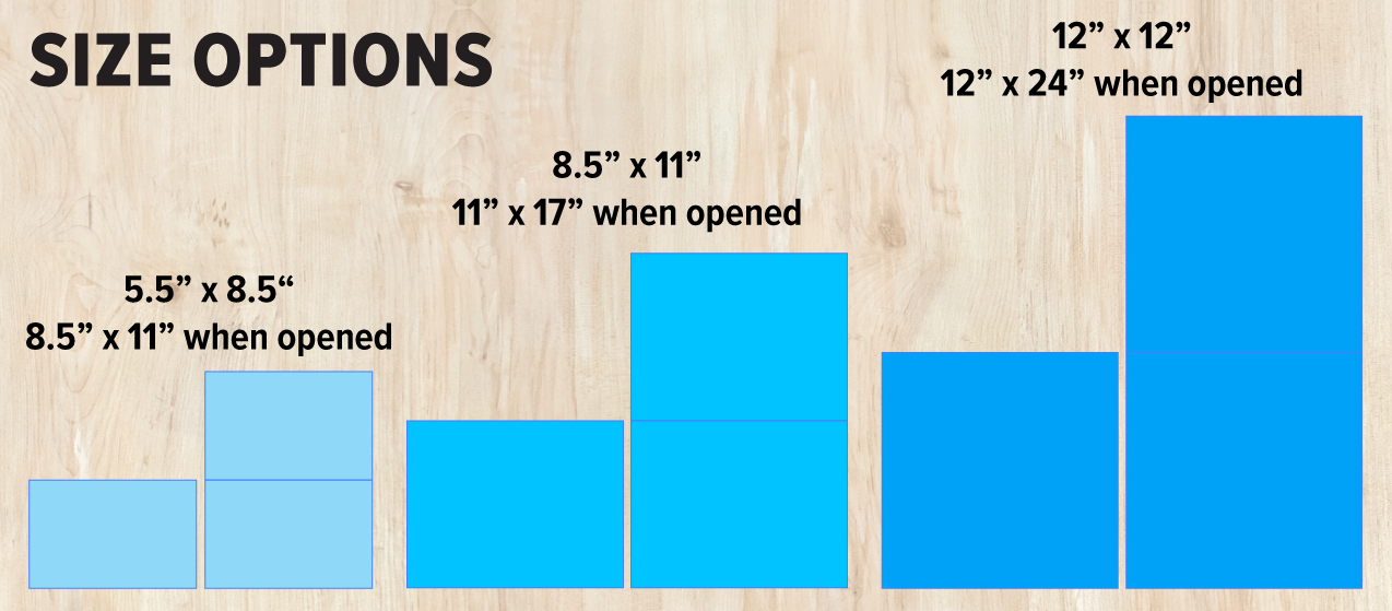 Custom Calendar Size Options