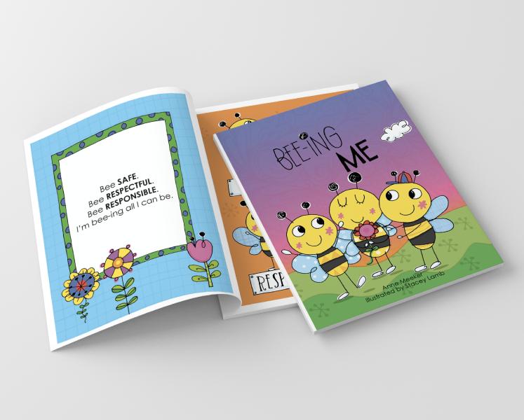 """Bee-ing Me"" Book mockup"