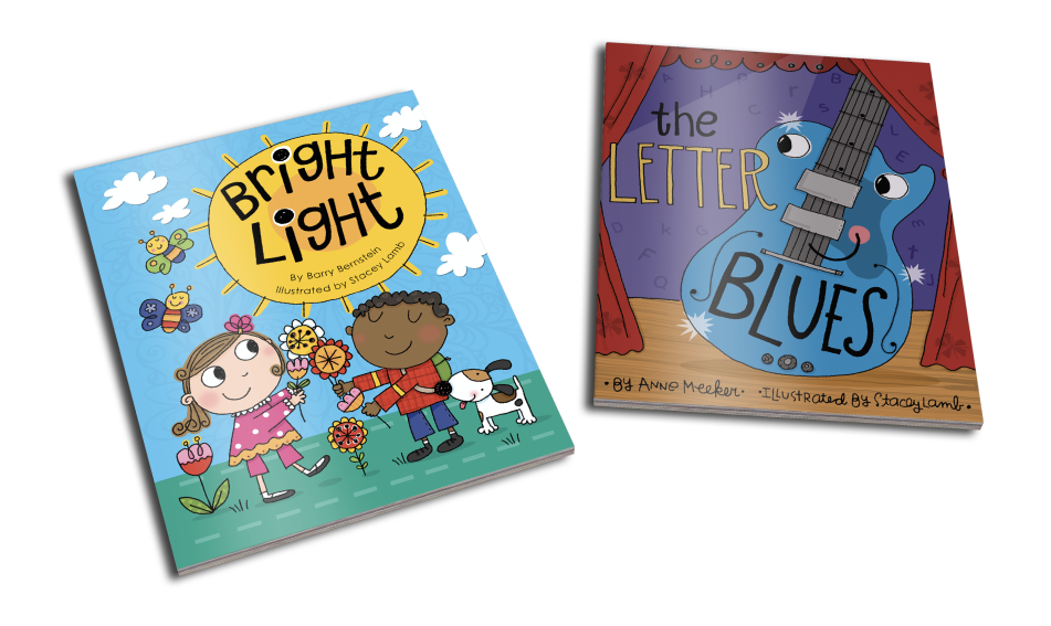 """Anne's """"Bright Light"""" and """"Letter Blues"""" book covers"""