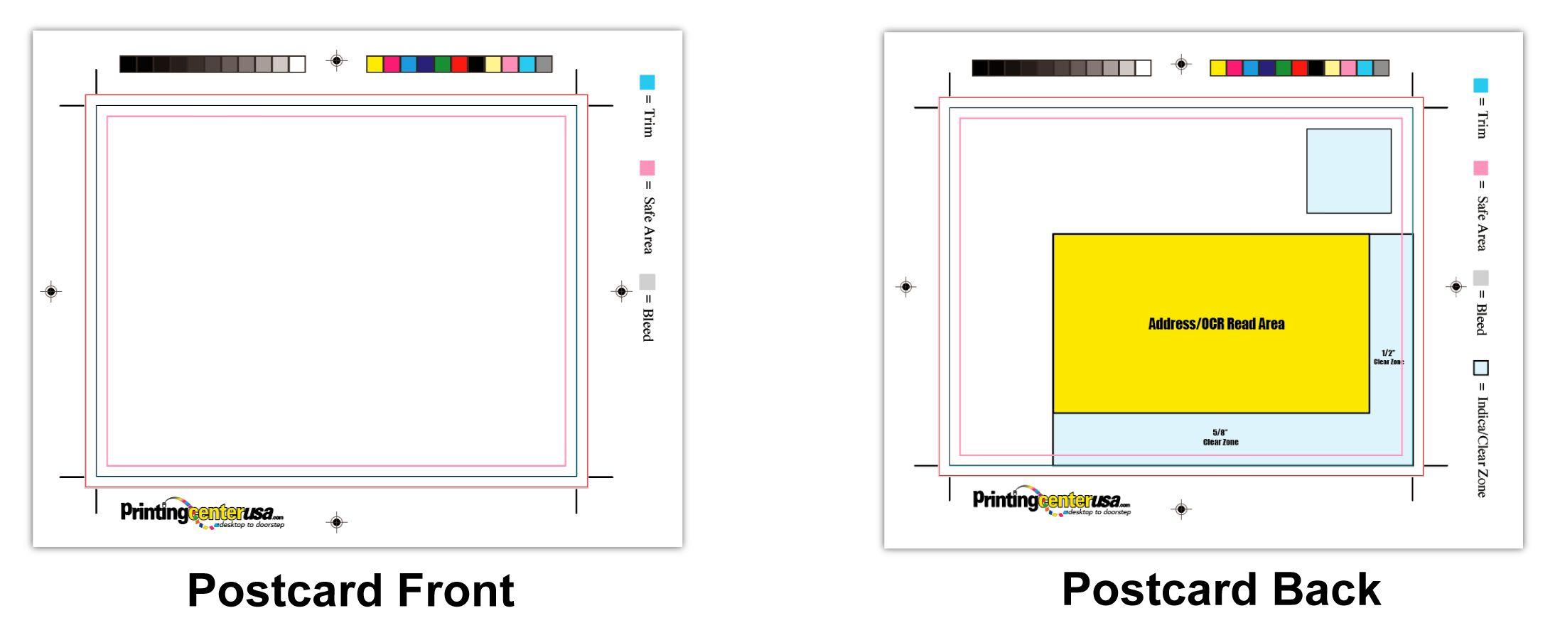 PrintingCenterUSA Postcard Templates