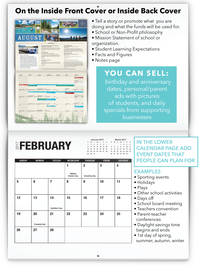 Fundraising Calendar Copy Ideas!