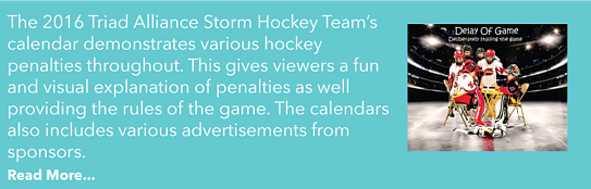 Read more about a hockey team's calendar!