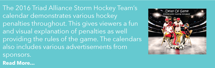 Read more about a hockey team's calendar!