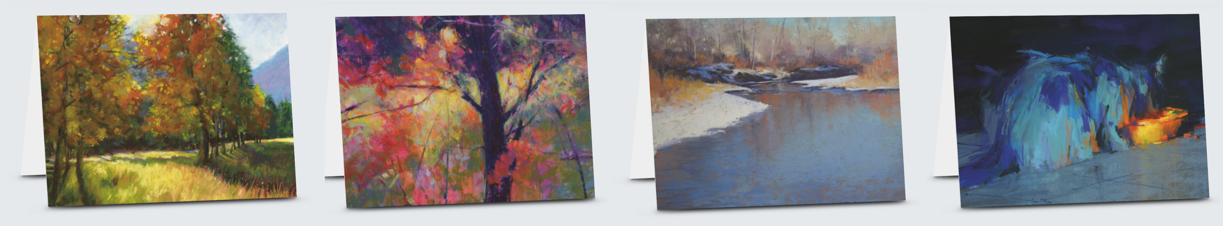 4 greeting cards all sized 5x7 with artist renderings.