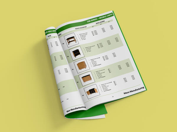 Industrial Product Catalog on Yellow Background