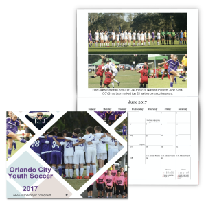 Soccer Fundraising Calendar