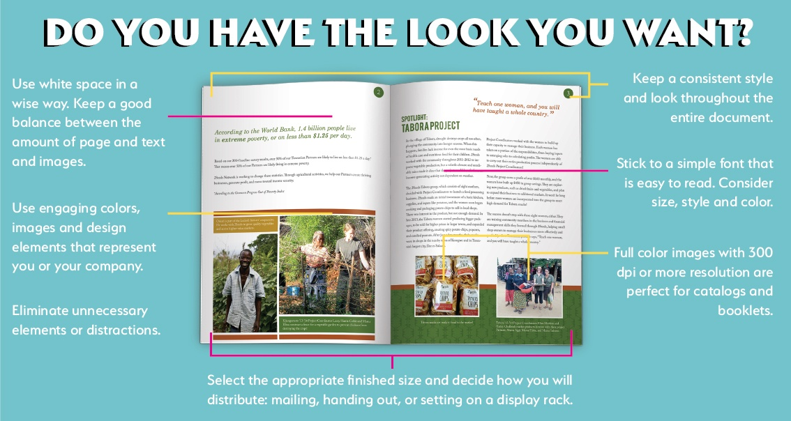 Do you have the look you want for booklets?