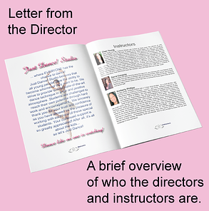 Recital Program Mockup with Letter from the Director