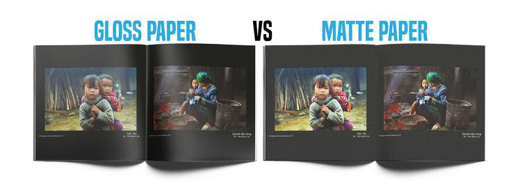 Gloss Paper Versus Matte Paper