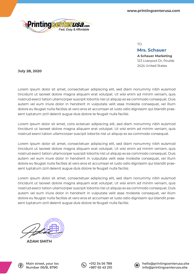 PrintingCenterUSA Letterhead