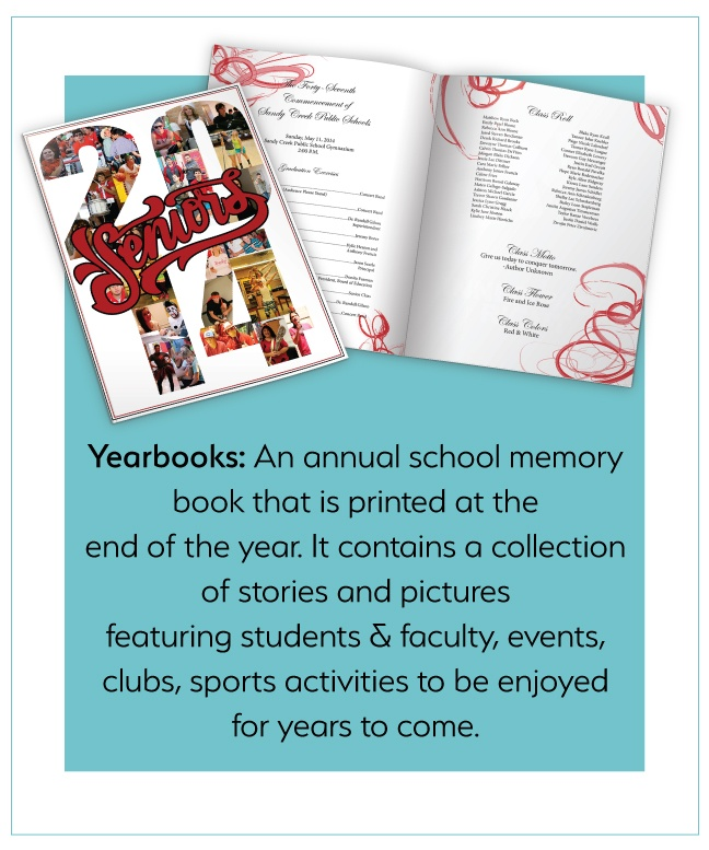 It's never too early to start thinking about Yearbooks! Start yours today at PrintingCenterUSA.