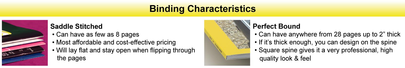 Book Binding Characteristics