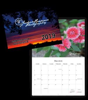 josh roesener calendar cover and open calendar