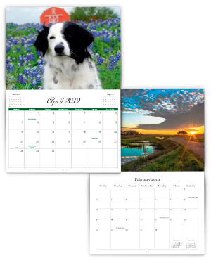 dog themed calendar with free downloadable grid