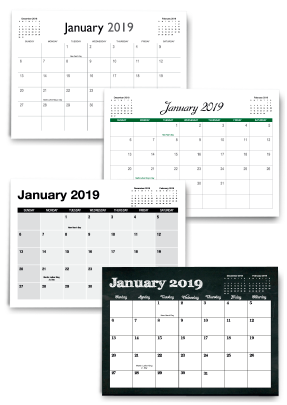 Free downloadable custom calendar templates & grids