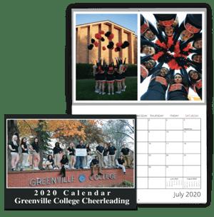 School Cheerleading Calendar Example