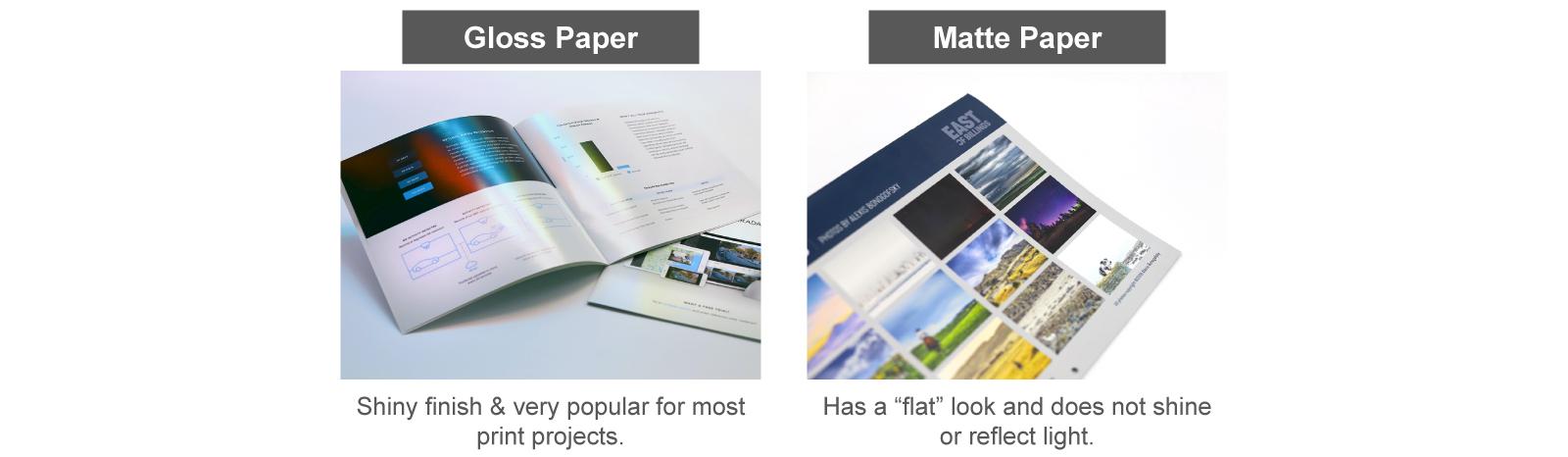 Gloss vs Matte paper
