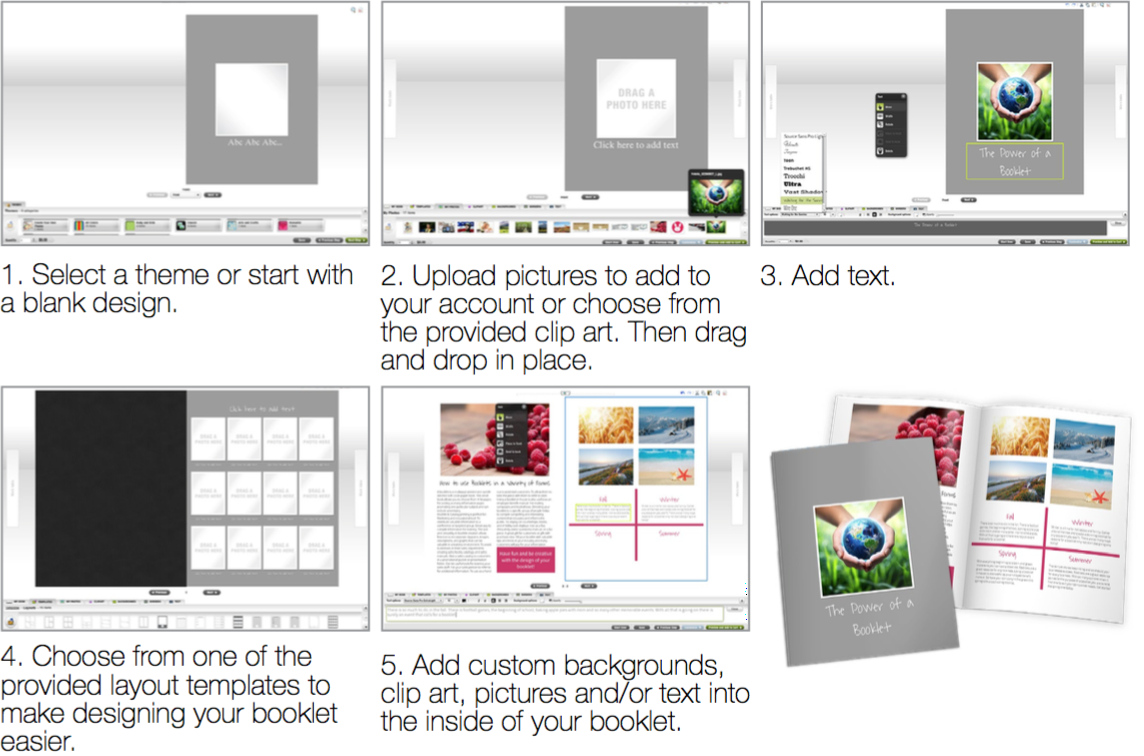design a booklet online